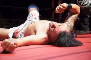 Havoc feeling the effects of one of his many Death Matches