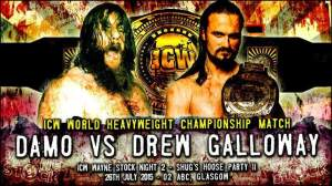 O'Connor goes one-on-one with Drew Galloway for the ICW World Heavy Weight Championship